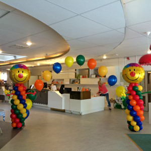 Tema clown på Kalas i staden, Gnesta bibliotek