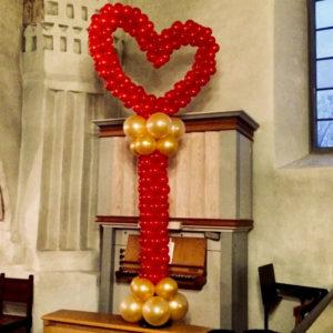 Hjärta på pelare